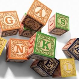 Danish alphabet blocks